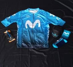 Vestuários e assessórios ciclistas