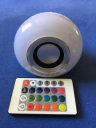 Lâmpada LED cores som bluetooth, usado comprar usado  Blumenau