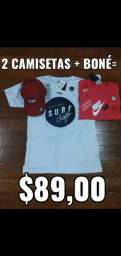 Kit 2 camisetas + bone