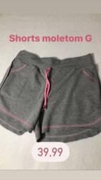 Promoção!Shorts moletom