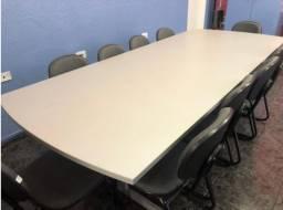 Mesa de Reunião + 11 cadeiras (Super Novas)