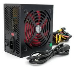 Fonte Gamer 450w Real Atx 20+4p Silenciosa Para Pc Desktop - Loja Natan Abreu