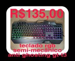 Título do anúncio: Teclado gamer rgb semi-mecânico Lehmox gt-t3