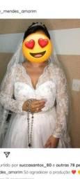 Título do anúncio: Vestido noiva+ véu + Tiara
