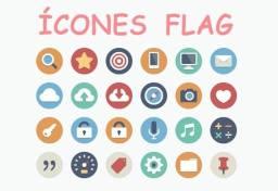 Título do anúncio: Pacote Completo De 3000 Ícones Flat Download Imediato