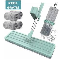 Vassoura Mop Flat 360 Para Pisos Mop Limpeza + 3 Refil Extra