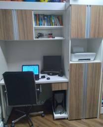 Conjunto de mesa e armário para escritório  - Home office
