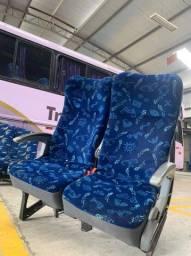 Banco duplo para ônibus rodoviário Marcopolo G7