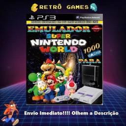 Super Nintendo + 1000 Jogos - Ps3 Leia A Descrição!!!!!!