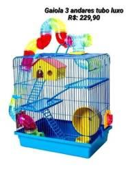 Título do anúncio: Gaiola para Hamster tubo luxo de 3 andares. 239,00