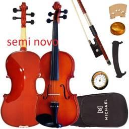 Violino 3/4 Michael VNM136 Boxwood Series - Acompanha Case e Arco.