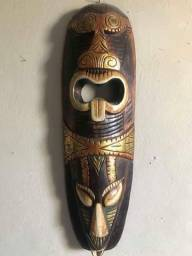 Decoração Balinesa de parede máscara cor chocolate e dourada (nova)