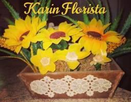 Arranjo de Flores de Girassol