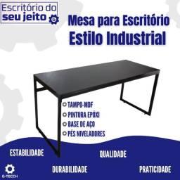 Título do anúncio: Mesa para Escritório Estilo Industrial 1,50M - Parcelamos em 12X