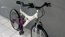 Bicicleta track aro 26 dupla suspensao