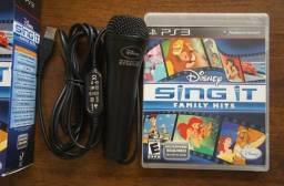 Disney Sing it - Family Hits Playstation 3 com microfone original