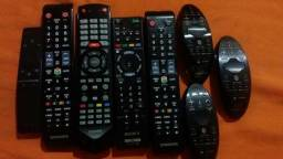 Controles de TV das marcas Samsung Sony