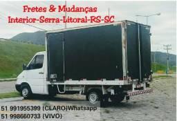 Frete-Mudança Interior-Serra-Litoral-RS-SC