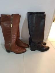 Dois pares de botas de couro, Bottero, n 38