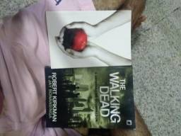 Livros Crepúsculo e The Walking Dead
