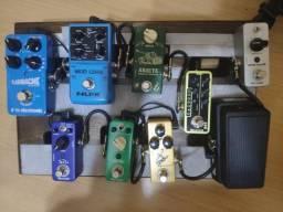Torro Pedais Diversosdo meu pedalboard, mooer, TC Eletronics, Nux, Dunlop cry baby