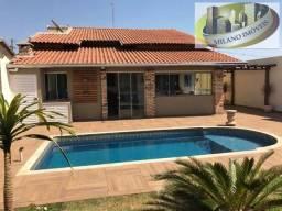 Excelente casa bairro Paranapunga com piscina 4 dorm ac financ, tres lagoas ms