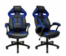 Cadeira Gamer Mx1 Giratoria Preto E Azul Mymax