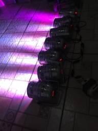 Refletores led rgb dmx