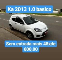 Ka 2013 1.0 Basico Sem Entrada Mais 48X De 600,00 - 2013