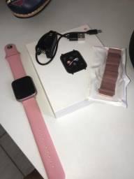 Vendo Smart Watch Rosé Novo ou Troco em Celular