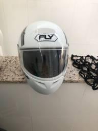 Vendo capacete TAM 60 com rede para moto