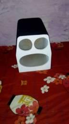 Caixa de som: 1 cx igrejinha e 1 cx médio 12p