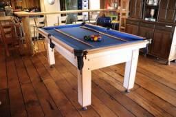 Título do anúncio: Mesa Tentação Tecido Azul 4 pés Mod. 495VB7HT
