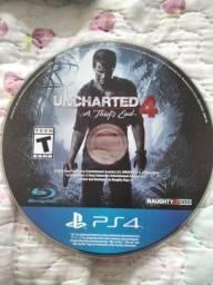 Título do anúncio: PS4 - Jogo Uncharted 4 [Venda ou Troca em Barueri]