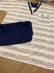 Pijama masculino GG novo