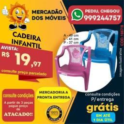 Título do anúncio: Cadeira Plástica Infantil - Entrega Grátis