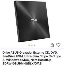 Lote Gravador/leitor dvd externo Asus