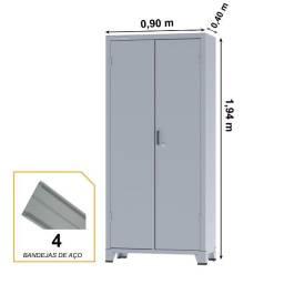 Título do anúncio: Armário de Aço c/ 02 portas ? PA 90 ? 1,98×0,90×0,40m ? chapa 26