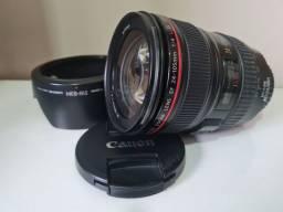 Título do anúncio: Canon Lente 24 105 f4 série L troco por SL3