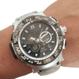 Relógio Masculino Dual Time Novo Todo Funcional