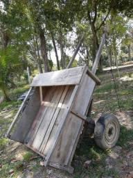 Carroça para cavalo madeira de lei