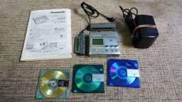 Vintage Panasonic SJ-MR200 Portable MiniDisc MD Play Recorde Japan.