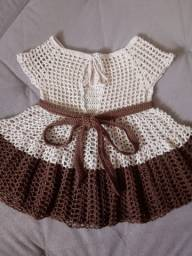 Vestido infantil crochê P