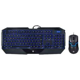 Kit, Teclado,  Mouse, Hp ,gamer, Usb, Gk1100 , Preto