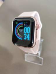 Smart watch d28, recebe notificações das redes sociais, fitness e monitor da saúde