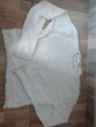 Cropped pelinho branco