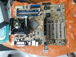 Kit placa mãe asus P4S8000-x + pentium 4 + 2gb ram + placa  de vídeo  GeForce 6200