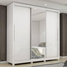 Título do anúncio: Guarda Roupa Casal Luxo 03 Portas de Correr com Espelho