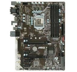 Título do anúncio: Placa Mãe Gamer MSI 1151 com 6 slots Pci-e p/mineração btc eth p/Rtx 3060 3070 rx 580 570