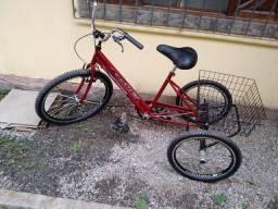 Título do anúncio: Bicicleta Triciclo Luxo Aro 26 Completo Violeta